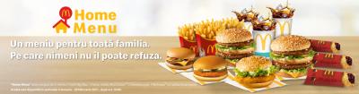 Home Menu de la McDonalds