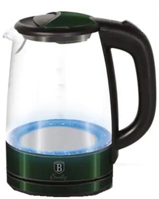 Fierbator apa BERLINGER HAUS BH/9080, 1.7l, 2200W, verde inchis-transparent