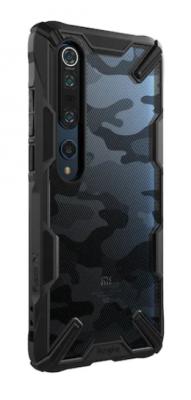 Husa de protectie Ringke Fusion X pentru Xiaomi Mi 10/Mi 10 Pro, Negru/Camuflaj