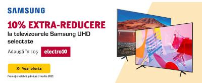 10% Extra Reducere la televizoarele Samsung UHD