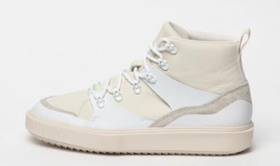 Puma, Pantofi sport mid-high cu insertii din piele Breaker Crem
