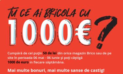Brico Depot - Tu ce ai bricola cu 1000 euro?