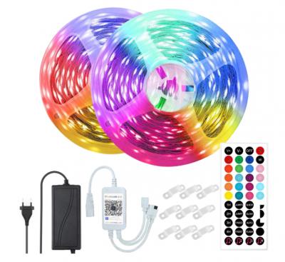 Kit Banda LED RGB Vaxiuja,10M,Bluetooth Controlul APP,Telecomanda 44 Taste, SMD 5050,12V, Multicolor