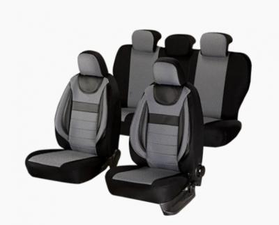 Huse scaune auto Universale, Editia Dynamic, Material Textil, Insertii Piele Ecologica, 11 piese, SMARTIC®, gri