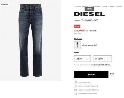 DIESEL Jeans 'D-FINING-GO' la reducere 70%