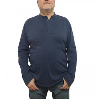 Camasa din tricot, casual, albastra, pentru barbati, Breel's, Albastra