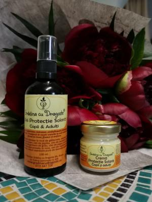 Pachet Promoțional cu Crema si Ulei Protecție Solară 1