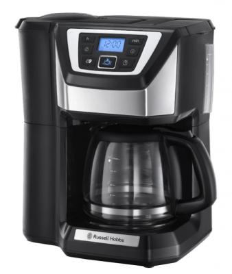 Cafetiera cu rasnita russell hobbs 22000-56, 1025 w, 1.25 l, 12 cesti, negru/argintiu