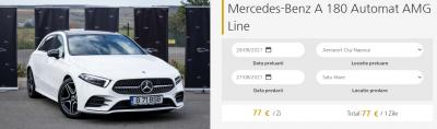 Mercedes-benz a 180 automat amg line