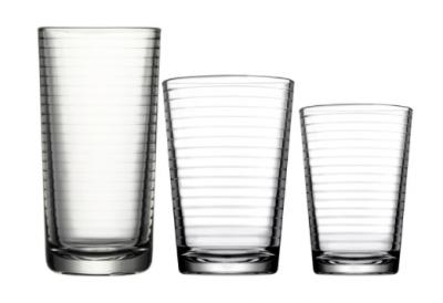 Set 18 pahare din sticla doro, 6 x 160ml, 6 x 260ml, 6 x 260ml