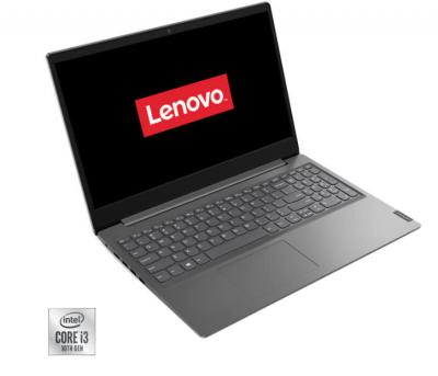 "Laptop lenovo v15-iil cu procesor intel core i3-1005g1 pana la 3.40 ghz, 15.6"", hd, 4gb, 256gb ssd, intel uhd graphics, free dos, grey"