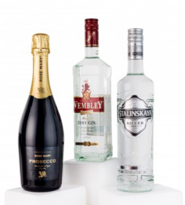 pachet rose mary prosecco - wembley dry gin - stalinskaya silver