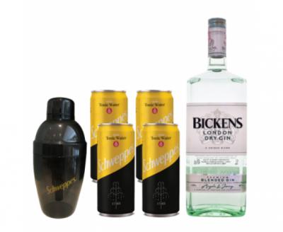 pachet promotional bickens tonic cu shaker cadou