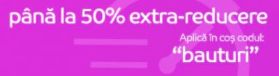 Pana la 50% reducere la bauturi vandute de eMag.